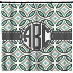 Geometric Circles Shower Curtain (Personalized)