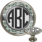 Geometric Circles Cabinet Knob (Silver) (Personalized)