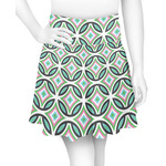 Geometric Circles Skater Skirt (Personalized)