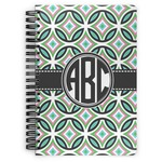 Geometric Circles Spiral Bound Notebook (Personalized)