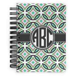 Geometric Circles Spiral Bound Notebook - 5x7 (Personalized)