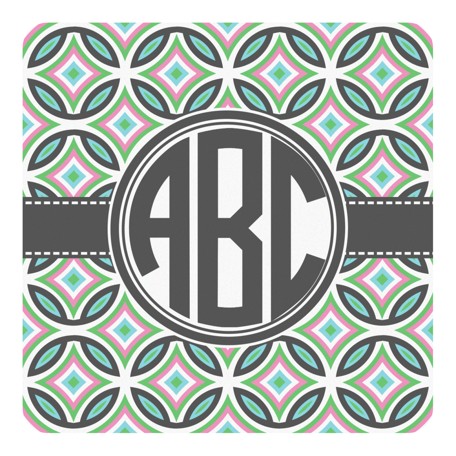 Geometric Circles Square Decal Custom Size Personalized