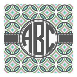 Geometric Circles Square Decal - Large (Personalized)
