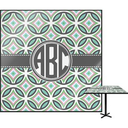 Geometric Circles Square Table Top (Personalized)