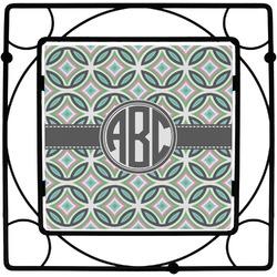 Geometric Circles Square Trivet (Personalized)