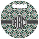 Geometric Circles Stadium Cushion (Round) (Personalized)
