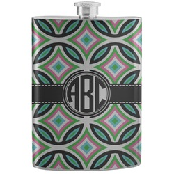 Geometric Circles Stainless Steel Flask (Personalized)