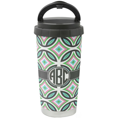Geometric Circles Stainless Steel Coffee Tumbler (Personalized)