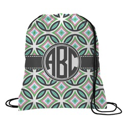 Geometric Circles Drawstring Backpack (Personalized)