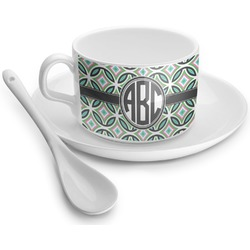 Geometric Circles Tea Cup - Single (Personalized)