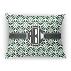 Geometric Circles Rectangular Throw Pillow Case (Personalized)