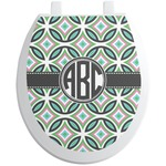 Geometric Circles Toilet Seat Decal (Personalized)