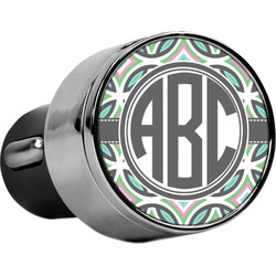 Geometric Circles USB Car Charger (Personalized)