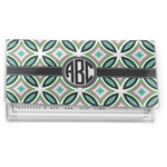 Geometric Circles Vinyl Checkbook Cover (Personalized)