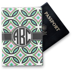 Geometric Circles Vinyl Passport Holder (Personalized)