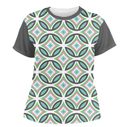 Geometric Circles Women's Crew T-Shirt (Personalized)