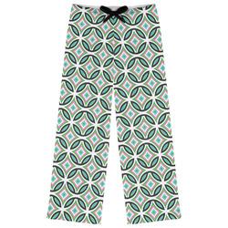 Geometric Circles Womens Pajama Pants - XL (Personalized)