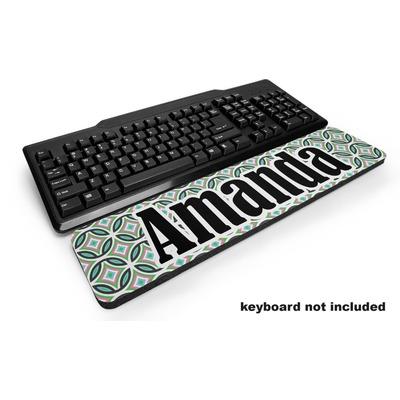Geometric Circles Keyboard Wrist Rest (Personalized)