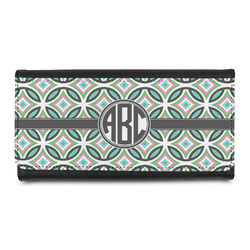 Geometric Circles Leatherette Ladies Wallet (Personalized)
