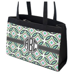 Geometric Circles Zippered Everyday Tote (Personalized)