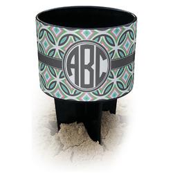 Geometric Circles Black Beach Spiker Drink Holder (Personalized)