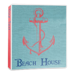 Chic Beach House 3-Ring Binder - 1 inch