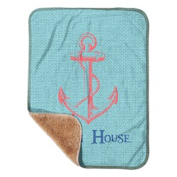 "Chic Beach House Sherpa Baby Blanket 30"" x 40"""
