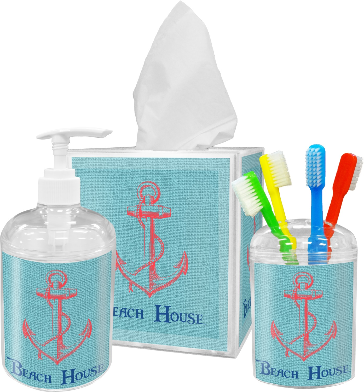 Chic beach house toothbrush holder you customize it for Bathroom design hashtags