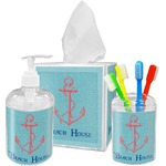 Chic Beach House Acrylic Bathroom Accessories Set