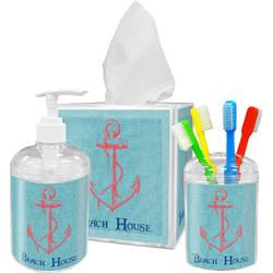 Chic Beach House Bathroom Accessories Set