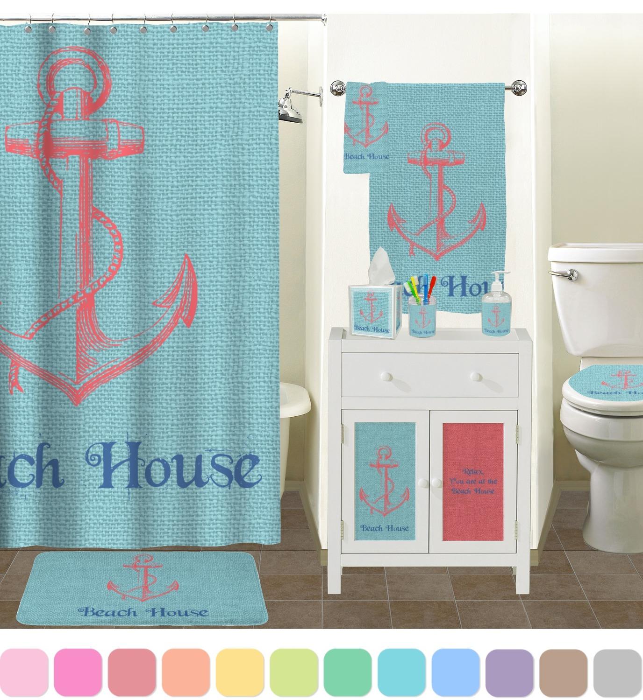Chic Beach House Shower Curtain YouCustomizeIt