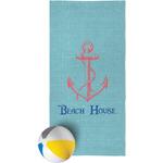 Chic Beach House Beach Towel