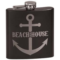 Chic Beach House Black Flask