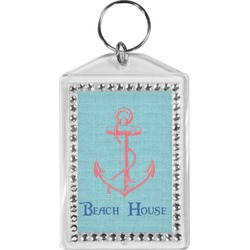 Chic Beach House Bling Keychain