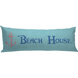 Chic Beach House Body Pillow Case