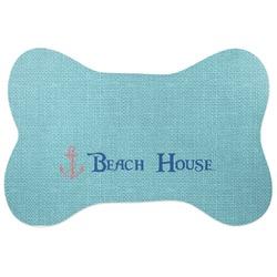 Chic Beach House Bone Shaped Dog Food Mat