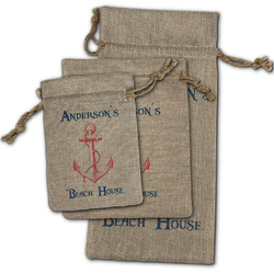 Chic Beach House Burlap Gift Bags