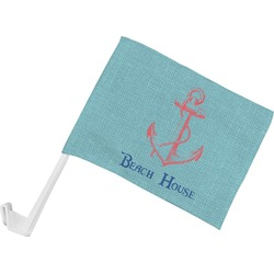 Chic Beach House Car Flag