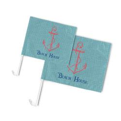 Chic Beach House Car Flag