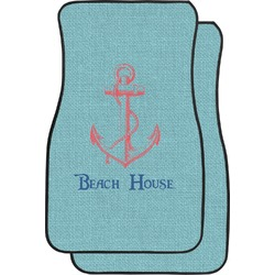Chic Beach House Car Floor Mats (Front Seat)