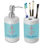 Chic Beach House Bathroom Accessories Set (Ceramic)