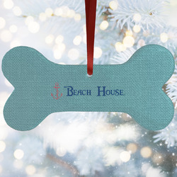 Chic Beach House Ceramic Dog Ornaments