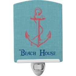 Chic Beach House Ceramic Night Light