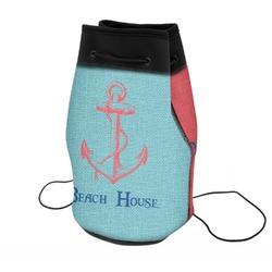 Chic Beach House Neoprene Drawstring Backpack
