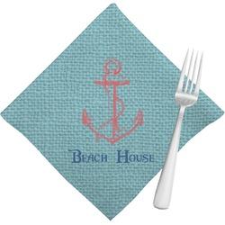 Chic Beach House Cloth Napkins (Set of 4)