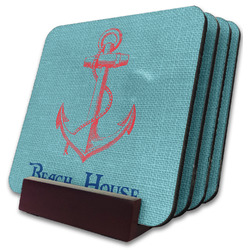 Chic Beach House Coaster Set w/ Stand
