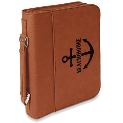 Chic Beach House Leatherette Book / Bible Cover with Handle & Zipper