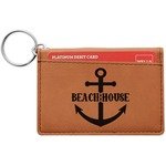 Chic Beach House Leatherette Keychain ID Holder