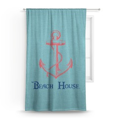 Chic Beach House Curtain