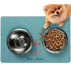 Chic Beach House Dog Food Mat - Small